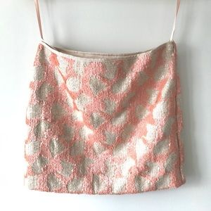 Like new BR sequins pink mini skirt size 2